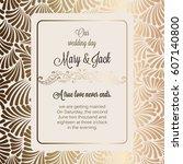 antique baroque luxury wedding... | Shutterstock .eps vector #607140800