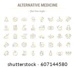 vector graphic set.icons in... | Shutterstock .eps vector #607144580