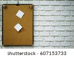 Corkboard With Paper Placed On...