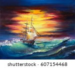 An Original Oil Painting On...