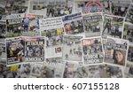 london  england   march 23 ... | Shutterstock . vector #607155128