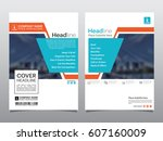 brochure  flyer  leaflet  cover ... | Shutterstock .eps vector #607160009