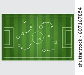 football strategy signs... | Shutterstock . vector #607167854
