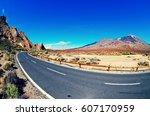 volcano el teide  tenerife... | Shutterstock . vector #607170959