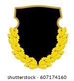 golden leaves of oak | Shutterstock .eps vector #607174160