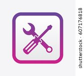 service tools toolbar icon.... | Shutterstock .eps vector #607176818