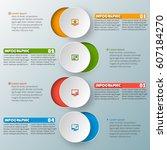 vector abstract 3d paper... | Shutterstock .eps vector #607184270