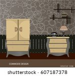 commode design. illustration of ... | Shutterstock .eps vector #607187378