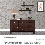 commode design. illustration of ... | Shutterstock .eps vector #607187390