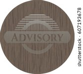 vector illustration of advisory ... | Shutterstock .eps vector #607193678