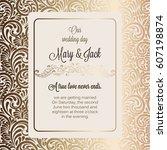 antique baroque luxury wedding... | Shutterstock .eps vector #607198874