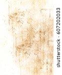 old crumpled paper texture.... | Shutterstock . vector #607202033