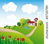 rural landscape | Shutterstock .eps vector #60720784