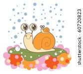 Lovely Snail Family On A...