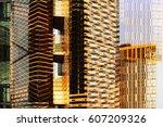 contemporary architecture. ... | Shutterstock . vector #607209326