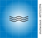 wave icon. vector illustration | Shutterstock .eps vector #607212596