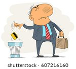 vector illustration of a men... | Shutterstock .eps vector #607216160