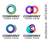 logos for business vector set | Shutterstock .eps vector #607218134