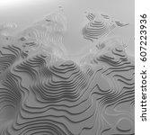 3d topographic map background... | Shutterstock . vector #607223936
