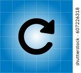 update icon. refresh symbol | Shutterstock .eps vector #607226318