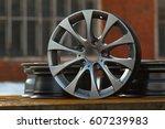 close up of rims car alloy wheel | Shutterstock . vector #607239983