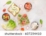 Open Wholemeal Sandwiches And...
