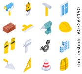 building and repair   icons set ...   Shutterstock .eps vector #607264190