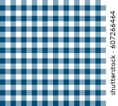 blue patterns tablecloths... | Shutterstock .eps vector #607266464