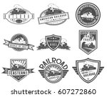 Vector Vintage Steam Train Set...