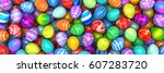 pile of birght and colorful...   Shutterstock . vector #607283720