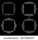 vintage baroque frame   Shutterstock .eps vector #607286819