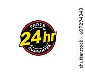 24 hour badges | Shutterstock .eps vector #607294343