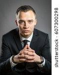 portrait of businessman with...   Shutterstock . vector #607300298