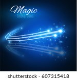 abstract vector glowing magic... | Shutterstock .eps vector #607315418
