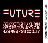 vector futuristic minimalistic... | Shutterstock .eps vector #607324838