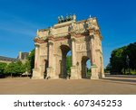 arc de triomphe du carrousel  a ... | Shutterstock . vector #607345253