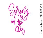 spring in the air postcard.... | Shutterstock . vector #607365914