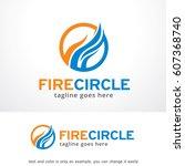 abstract fire logo template...   Shutterstock .eps vector #607368740