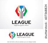 abstract league logo template...   Shutterstock .eps vector #607368824