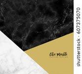 minimalistic trendy marble... | Shutterstock .eps vector #607375070