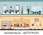 public access to financial... | Shutterstock .eps vector #607379153