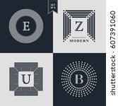 logos design templates set.... | Shutterstock .eps vector #607391060