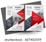 flyer brochure design size a4... | Shutterstock .eps vector #607402559