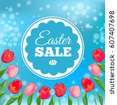 easter sale card.  illustration | Shutterstock . vector #607407698