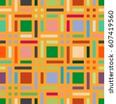 geometric seamless pattern.... | Shutterstock .eps vector #607419560