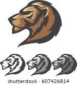 lion head logo mark | Shutterstock .eps vector #607426814