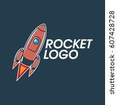 rocket logo design | Shutterstock .eps vector #607428728