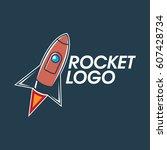 rocket logo design | Shutterstock .eps vector #607428734
