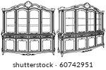 Cupboard Showcase Vector 02
