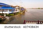 in the river | Shutterstock . vector #607438634